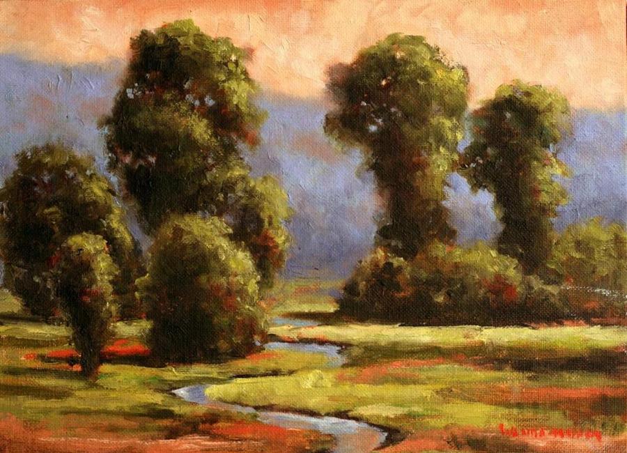 http://wandamumm.com/wp-content/uploads/2016/08/Sunrise-on-Sinclair-Creek-8-x-10-Original-Oil.png