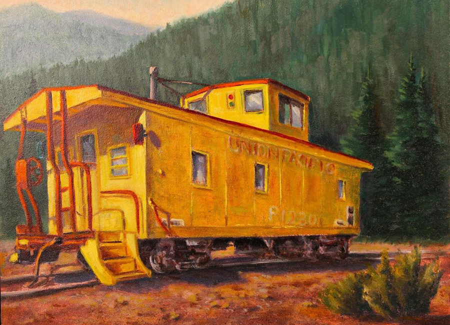 'The-End-of-The-Line'-Original-Oil-8'x-10′